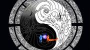 Naruto y Minato usando el chakra Yin y Yang de Kurama