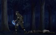 Asuma depois de derrotar Kazuma