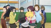 Boruto corre em direção a Konohamaru