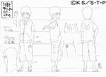Diseño de Naruto en la academia por Pierrot