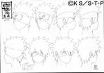 Kakashi Hatake expresiones Boceto
