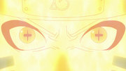 Naruto sincronizando el Modo Kurama con el Modo Sabio