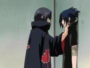 Itachi detiene a Sasuke