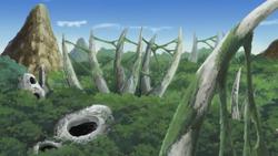 Montaña Cementerio Anime