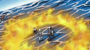 Estilo de la Nube Llamas Cortantes Anime