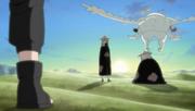 Kankurō detiene a Sasori y Deidara para rescatar a Gaara