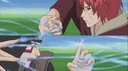 Kankurō y Sasori enfrentan sus habilidades