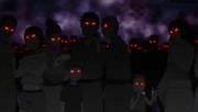 Miradas de desprecio de los aldeanos hacia Naruto