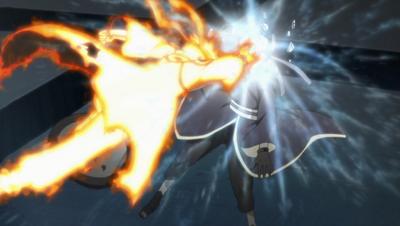 Naruto destruye la mascara de Tobi
