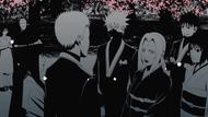 Naruto e Hinata recebem Tsunade no casamento