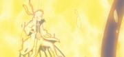 Naruto negándose a perder a Kurama