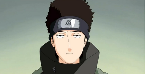 Shino con ojos de Kakashi
