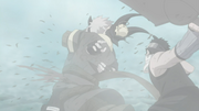 Zabuza cuts down Haku