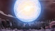 Boruto and Naruto's Combined Rasengan
