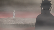 Chino e Sasuke conversam no Vale do Inferno
