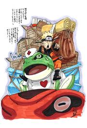 Dibujo de Kishimoto para los afectados del terremoto del 2011 en Japón