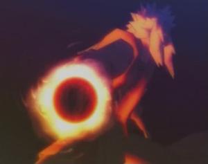 Elemento Fuego Rasengan en Llamas