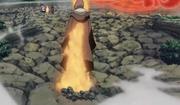 Itachi sellando a Nagato en la Espada de Totsuka