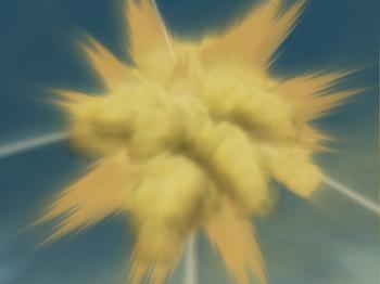 …and detonates.