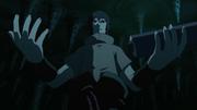 Sasuke falando com Orochimaru