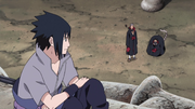 Sasuke y Sasori discuten sobre sus respectivos objetivos
