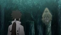 Zetsu Negro pequeno conversando com Indra