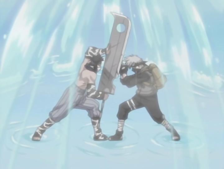 Kakashi And Zabuza Battling