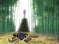 Marionete de Mizuki destruída