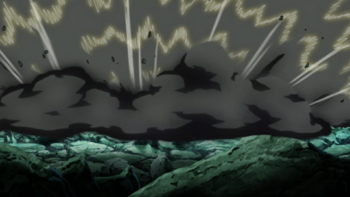 …a chain reaction of consecutive explosions is set off.