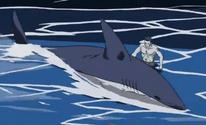 Kisame invocando a un Tiburón