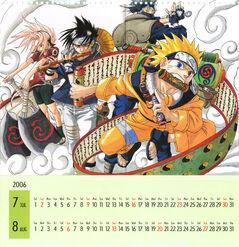 Naruto Calendario 2006 Julio-Agosto Versión A