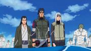 Asuma avec d'autres ressucités et Zetsu