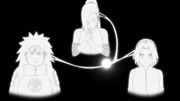 Ino conecta Chōji e Sakura