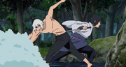 Sasuke lucha contra Suigetsu