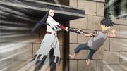 Jigen golpeando a Kawaki