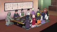 Sasuke e os 11 de Konoha reunidos na churrascaria