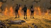 Hayate roba el pergamino con los cadáveres