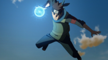 Konohamaru Using Rasengan