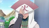 Minato con su atuendo de Hokage