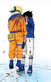 Sasuke empala Naruto (Mangá Colorido)