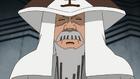 Ishikawa durante su vejez utilizando el sombrero de Tsuchikage