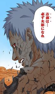 Obito le dice sus últimas palabras a Naruto