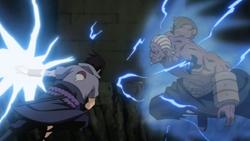 Sasuke contro il raikage