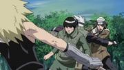 Kakashi y Guy enfrentan a Kushimaru y Jinpachi