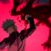 Naruto pelea contra el clon de kurama