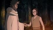 Futami receives the ability to use chakra