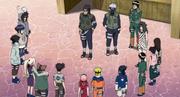 Los 12 de Konoha siendo informados de su misión