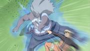 Naruto vence al Tercer Raikage