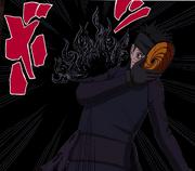 Tobi é atacado pelo Amaterasu (Mangá Colorido)