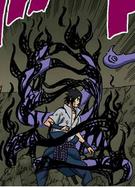 Amaterasu Fogo do Envoltório de Chamas (Mangá Colorido)